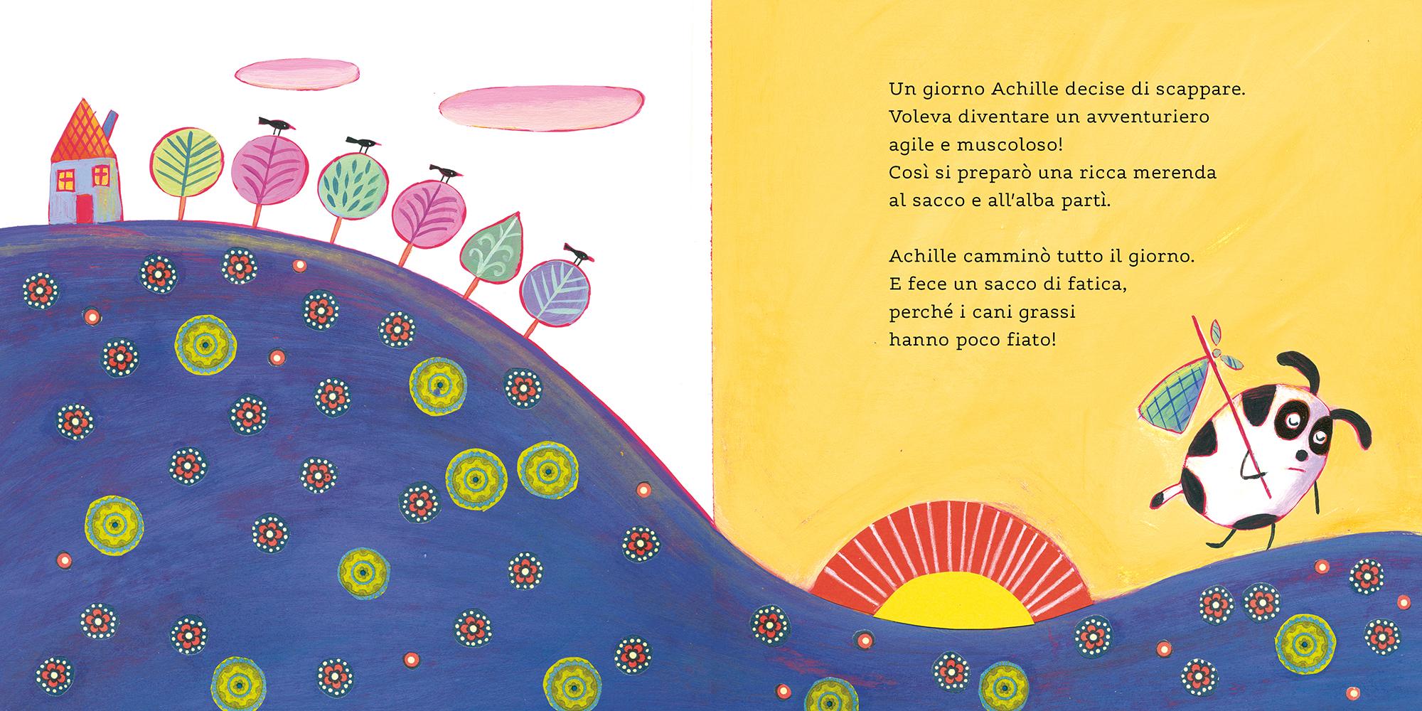 Achille cane quadrato, Giulio Fabroni, Gloria Francella